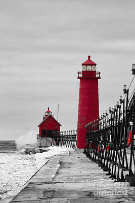 Grand Haven Lighthouse Poster by Todd Bielby