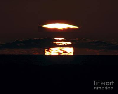 Green Flash At Sunset Poster by Laurent Laveder