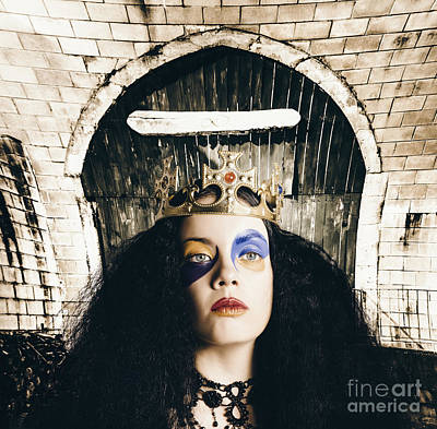 Grunge Queen Wearing Bright Colourful Makeup Poster by Jorgo Photography - Wall Art Gallery