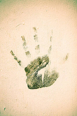 Handprint Poster by Tom Gowanlock