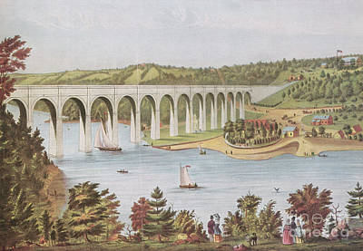 Harlem River, New York, 19th Century Poster by Photo Researchers
