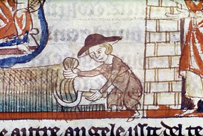 Harvesting, 14th Century Poster by Granger