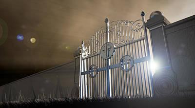 Heavens Open Gates Poster by Allan Swart