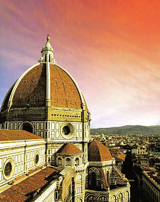 High Angle View Of A Cathedral, Duomo Poster by Miva Stock