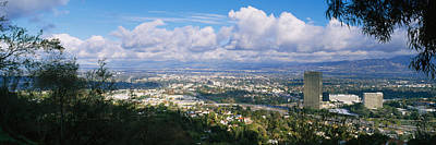 High Angle View Of A City, Studio City Poster by Panoramic Images