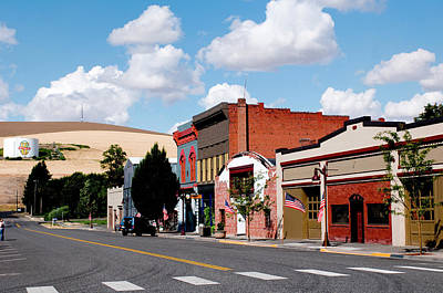 Historic Buildings Along Main Street Poster by Nik Wheeler