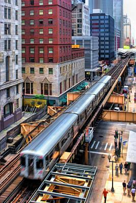 Historic Chicago El Train Poster by Christopher Arndt