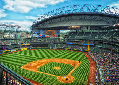 Home Of The Mariners - Safeco Field Poster by Mountain Dreams