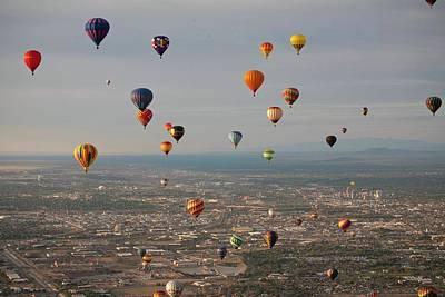 Hot Air Balloon Mass Ascent Poster by Peter Menzel