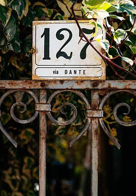 House Number 127 On Via Dante Poster by Alyaksandr Stzhalkouski