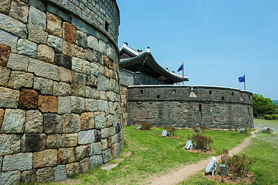 Huge Stone Walls Around The Unesco Poster by Michael Runkel