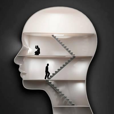 Human Mind Poster by Andrzej Wojcicki