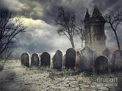 Hunted House Poster by Jelena Jovanovic