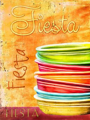 I Love Fiestaware Poster by Brenda Bryant