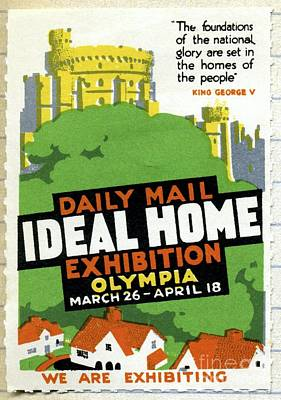 Ideal Home Exhibition Stamp, 1920 Poster by CCI Archives