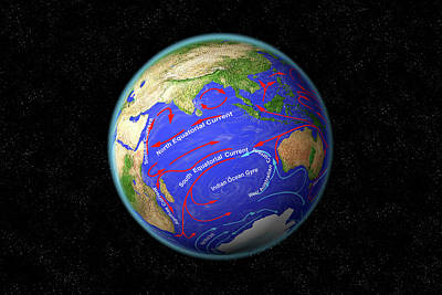 Indian Ocean Currents Poster by Carol & Mike Werner