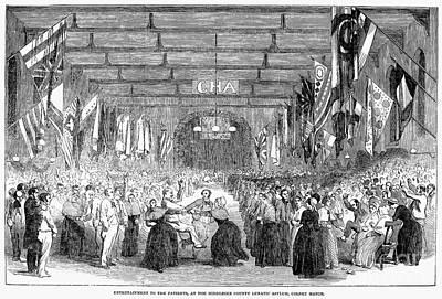 Insane Asylum, 1853 Poster by Granger