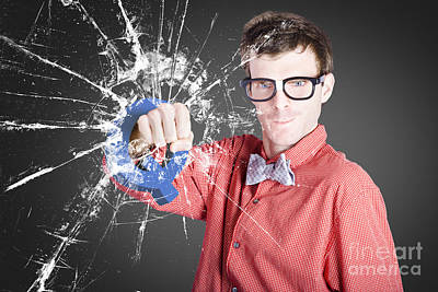 Intelligent Young Man With Good Idea Poster by Jorgo Photography - Wall Art Gallery