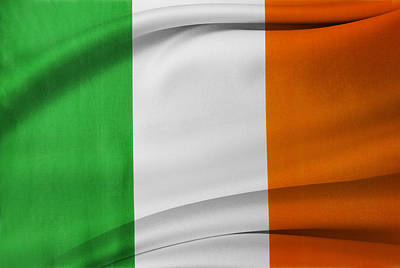 Irish Flag Poster by Les Cunliffe