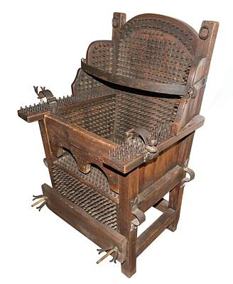 Iron Torture Chair Poster by David Parker