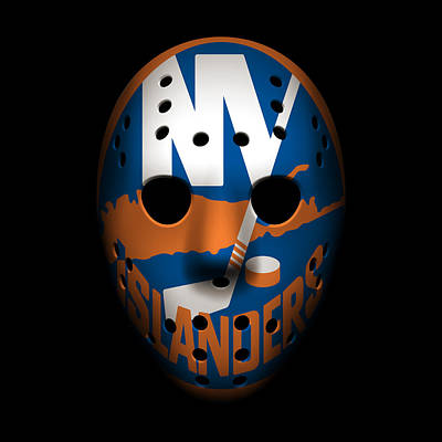 Islanders Goalie Mask Poster by Joe Hamilton