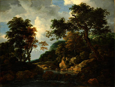 Jacob Van Ruisdael The Forest Stream Poster by MotionAge Designs