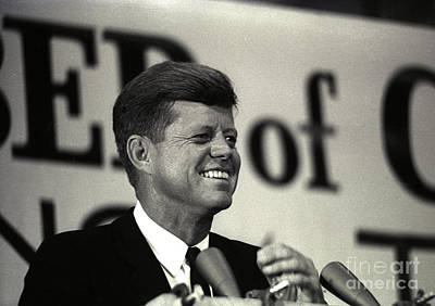 John F. Kennedy Speaking, 1963 Poster by Larry Mulvehill
