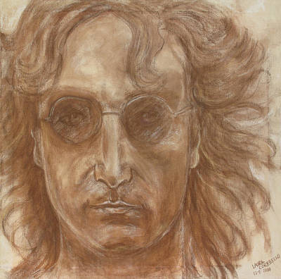 John Lennon Poster by Laura Corebello