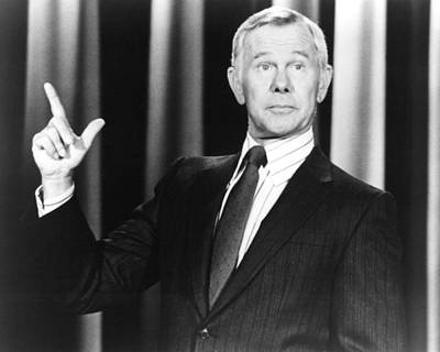 Johnny Carson In The Tonight Show Starring Johnny Carson  Poster by Silver Screen