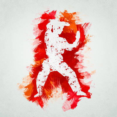Karate Fighter Poster by Aged Pixel