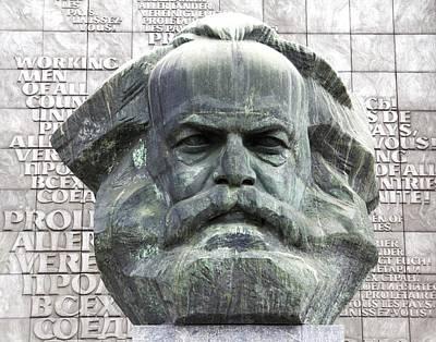 Karl Marx Monument In Chemnitz Poster by Alfred Pasieka