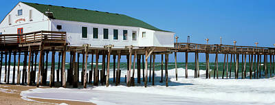 Kitty Hawk Pier On The Beach, Kitty Poster by Panoramic Images