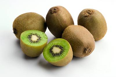 Kiwi Fruit Actinidia Chinensis Poster by Martyn F. Chillmaid