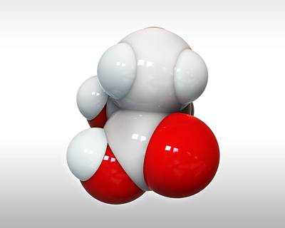 Lactic Acid, Molecular Model Poster by Science Photo Library