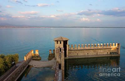 Lake Garda Panoramic Sunset View Poster by Kiril Stanchev