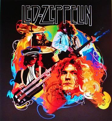 Led Zeppelin Art Poster by Donna Wilson