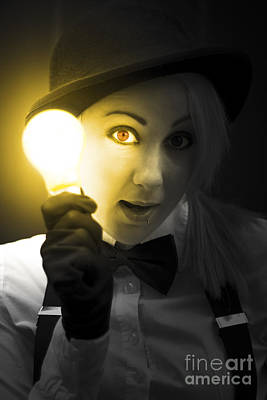 Light Bulb Lady Poster by Jorgo Photography - Wall Art Gallery