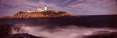 Lighthouse On The Coast, Nubble Poster by Panoramic Images