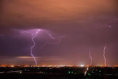 Lightning Storm Poster by Leland D Howard