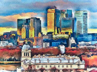 London City Poster by Yury Malkov