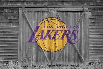 Los Angeles Lakers Poster by Joe Hamilton
