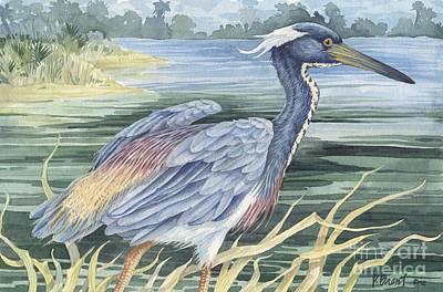 Louisiana Heron Poster by Paul Brent