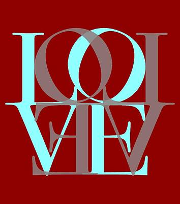 Love Typography Poster by Dan Sproul