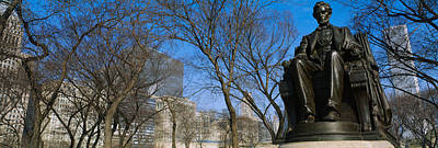 Low Angle View Of A Statue Of Abraham Poster by Panoramic Images