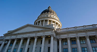Low Angle View Of The Utah State Poster by Panoramic Images