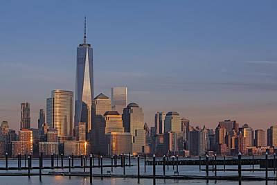 Lower Manhattan Skyline Poster by Susan Candelario