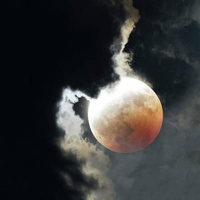 Lunar Eclipse Poster by Detlev Van Ravenswaay