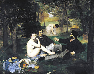 Luncheon On The Grass Poster by Edouard Manet