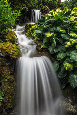 Lush Waterfall Poster by Pierre Leclerc Photography