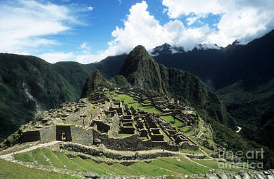 Machu Picchu Panorama Poster by James Brunker